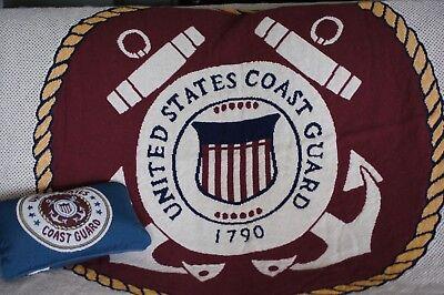 U.S. Coast Guard Tapestry Throw and Bonus Pillow, Official Coast Guard Seal.