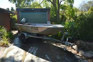 Quintrex 12ft aluminium tinnie with mariner 15HP outboard