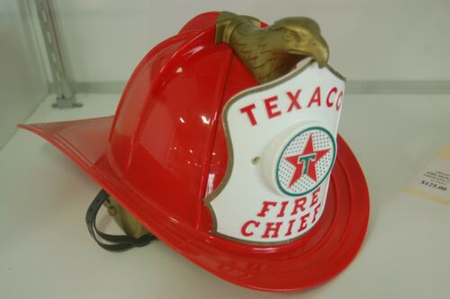 Original Vintage Texaco Fire Chief Kids Hard Hat Fireman