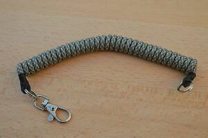 PARACORD COILED LANYARD/ KEYRING FOR SECURING TACTICAL KIT (ACU Digital Camo)