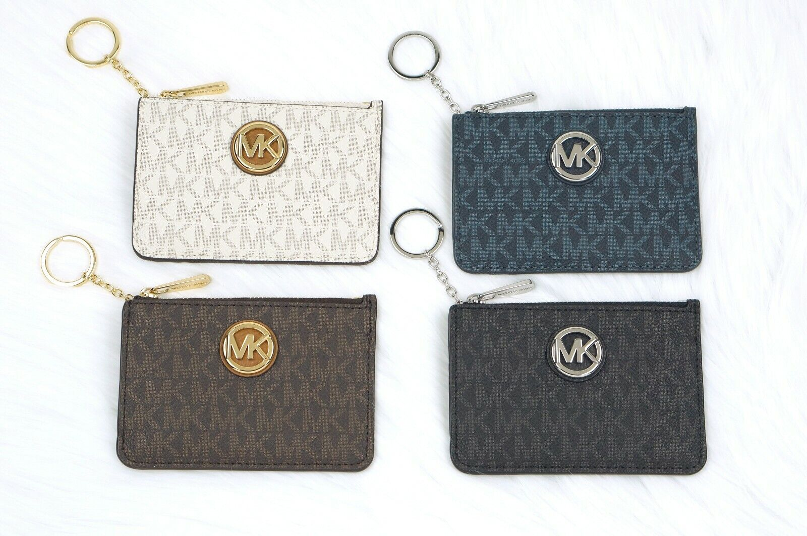 Michael Kors FULTON jet set Coin Pouch Wallet Card ID Case w