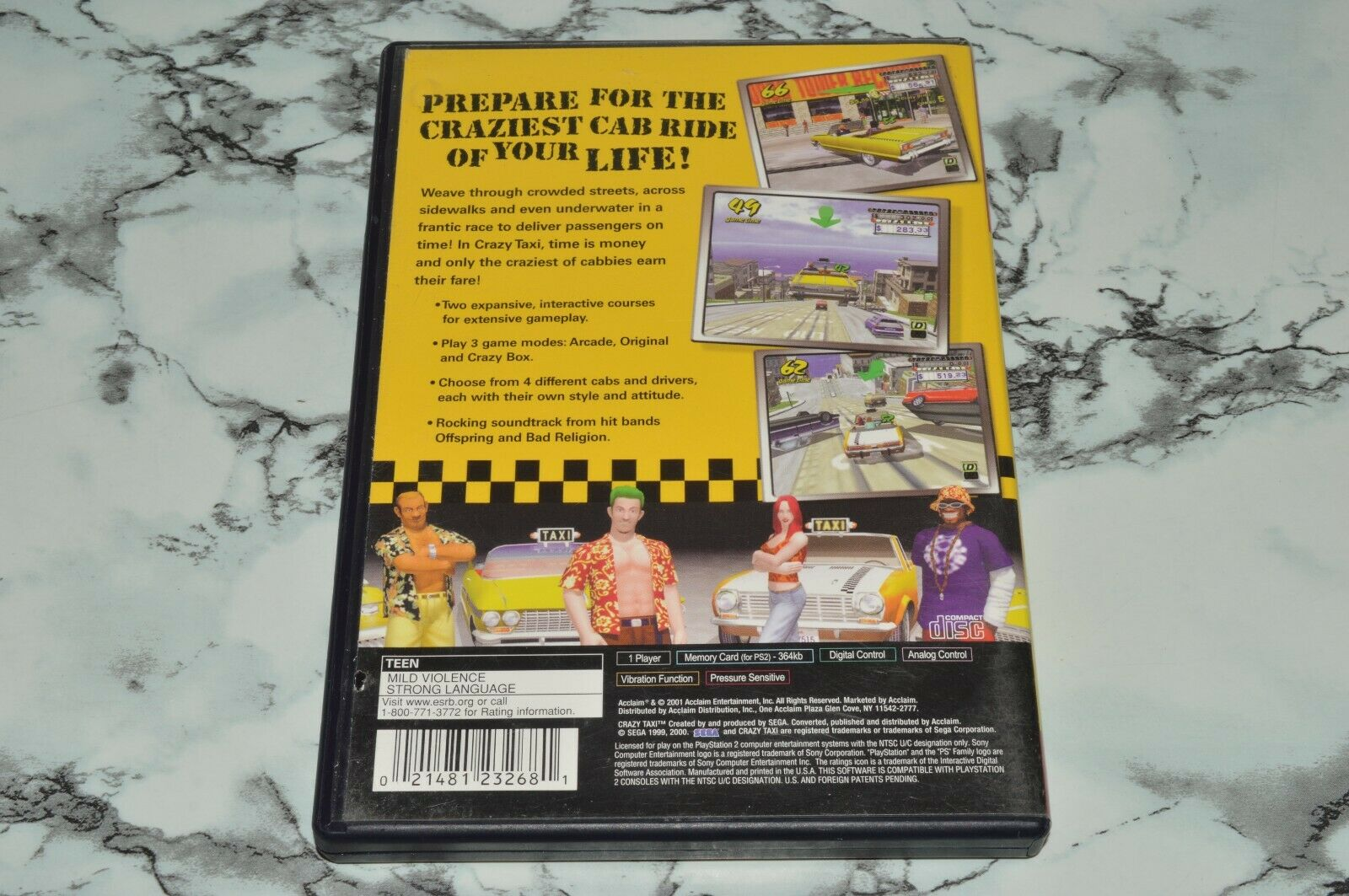 Crazy Taxi - Greatest Hits Sony PlayStation 2 PS2, 2001 -- Complete W/ Manual - $11.18
