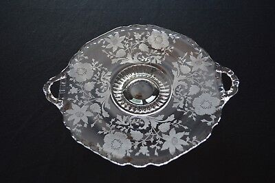 Cambridge Wildflower #3900/161 2 Handled Footed Dish