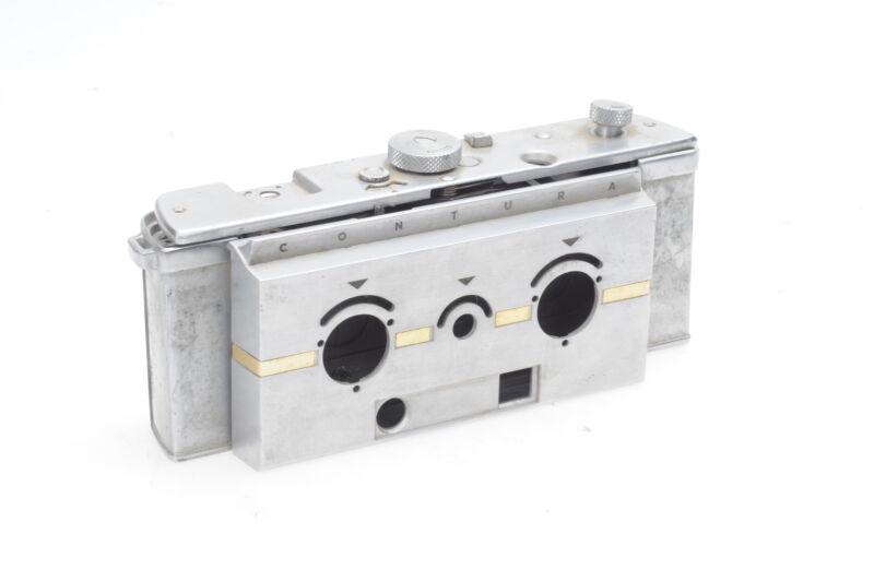 Contura Stereo Camera (c.1955, 35mm Film, RARE, just repair parts) #540