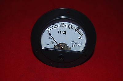 Dc 0-100ma Round Analog Ammeter Panel Amp Meter Dia. 90mm Direct Connect