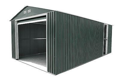 DuraMax 12X26 Metal Garage with Roll Up Door (Gray) [55151]
