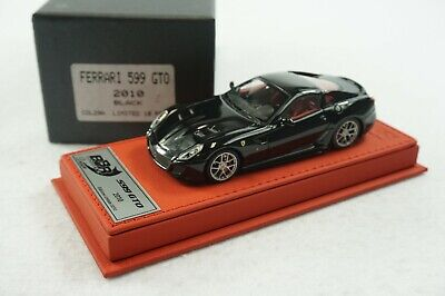 1/43 BBR FERRARI 599 GTO GLOSS BLACK RED DELUXE LEATHER LE 10 PCS MR