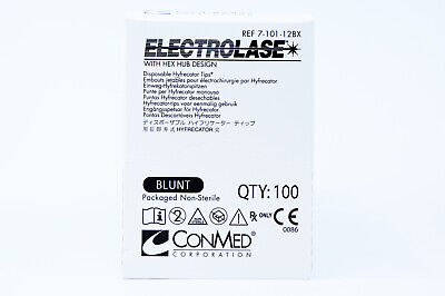 Conmed 7-101-12bx Electrolase Blunt Tips Disposable Hyfrecator Tips Box Of 100