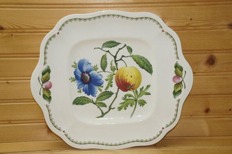 "Spode Victoria Square Handled Cake Plate, 11 1/2"""