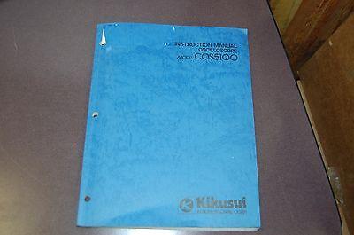 Kikusui Instruction Manual Oscilloscope Cos5100 3310d-3
