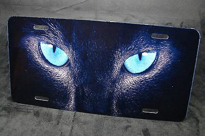 Cat Eye License Plate Frame - CAT EYES METAL LICENSE PLATE FOR CARS TRUCKS AND SUVS ANIMAL EYES