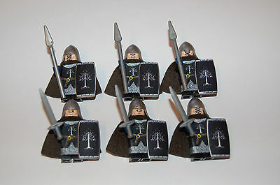 Custom Figuren für Herr der Ringe  Gondor Krieger Set 7 aus LEGO® Figuren Teilen