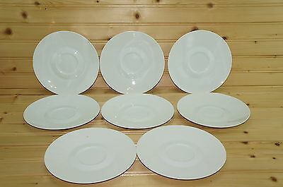 Rosenthal Classic Modern White Set of (8) Saucers, 6 1/2""