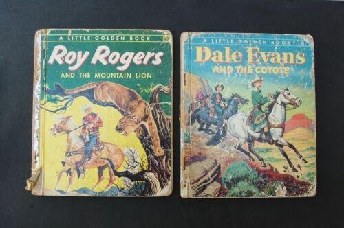 Little Golden Book Roy Rogers Mountain Lion & Dale Evans Coyote 1956 Vintage Lot