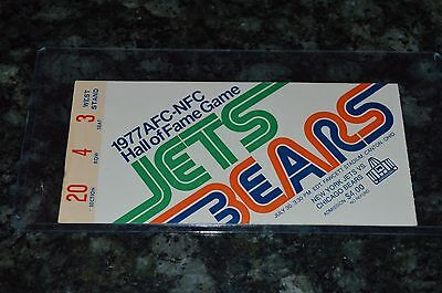 JACK PARDEE SIGNED 1977 JETS VS BEARS TICKET!!! MUST SEE!!!