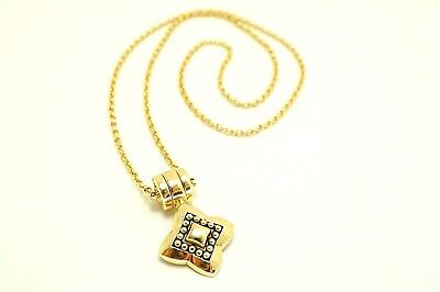 Designer Espo Sig 14k Yellow Gold Circle Link Snap Star Pendant Necklace (Circle Designs Snap)