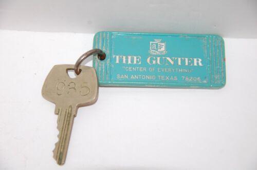 Vintage THE GUNTER Hotel Room Key and Fob - SAN ANTONIO TEXAS