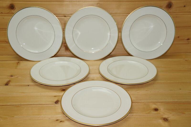 """Pickard Gold Horizon (6) Bread & Butter Plates, 6 3/8"""""""