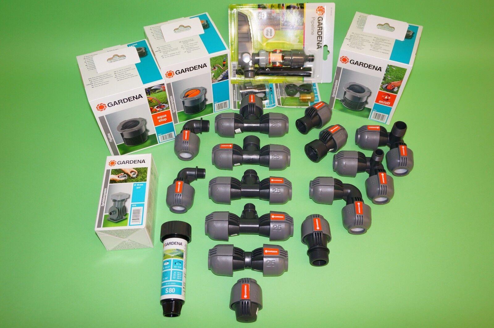 GARDENA® Pipeline Verbinder L- / T-Stück Winkel Adapter Anschlussdose - Auswahl