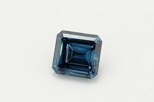 Fancy Deep Blue Diamond 1.95ct Emerald Cut IGI Certified