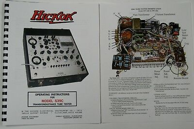 Usa Hickok 539c Ultimate Tube Tester Manual Wcolor Pictures Schematic