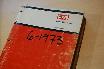 Case 450 Tractor Bulldozer Crawler Spare Parts Manual Catalog Book List C930