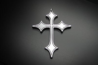 CHRISTIAN CROSS 3D EMBLEM,DECAL,LOGO,BADGE,STICKER FOR CARS.JESUS RELIGIOUS
