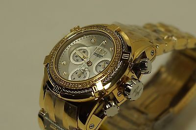 INVICTA Women's RESERVE Bolt Zeus Chrono Watch - Swiss - Gold-Silver 70 Diamonds