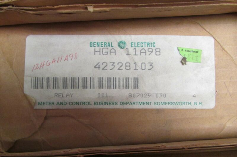 GENERAL ELECTRIC GE HGA 11A98 High Voltage Relay 42328103