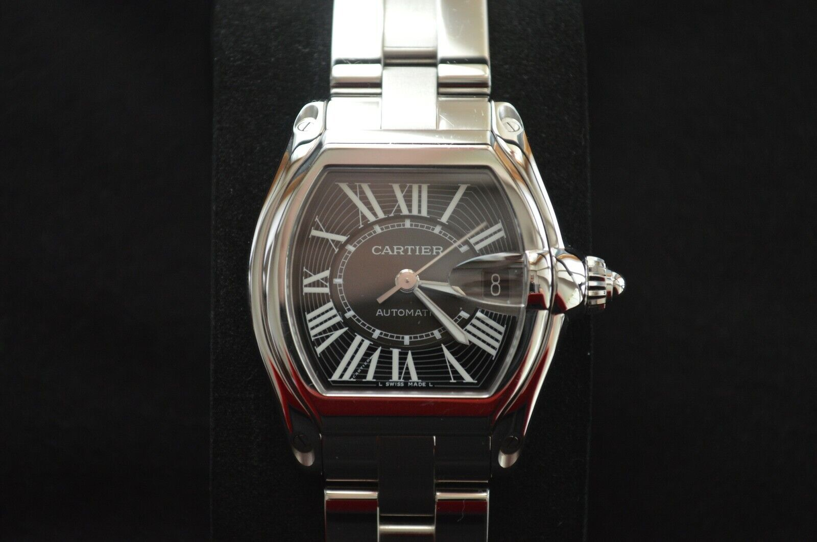 CARTIER ROADSTER 2510 Large Automatic Steel Men's Watch Double Strap Box Papers - watch picture 1