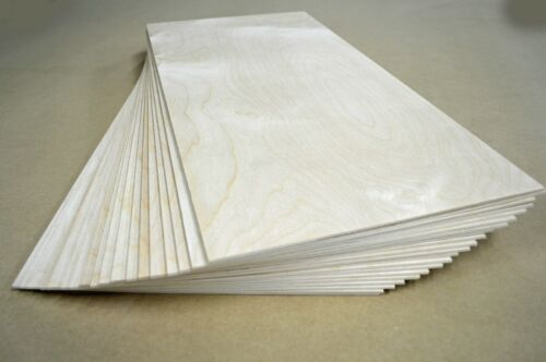 """Baltic Birch Plywood 1/8"""" Thick (3mm) 12"""" X 24"""" Artistic Craft Supply 20 Pieces"""