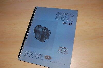Twin Disc Mg-521 Marine Gear Transmission Service Manual Repair Shop Book Motor