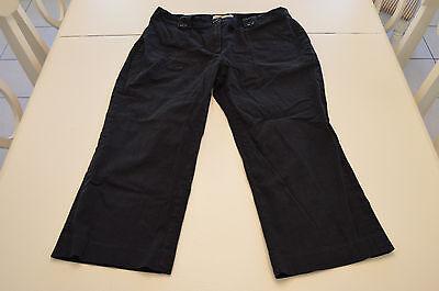 Michael Kors Capris (Women's Michael Kors Navy Blue Capri Cropped Pants Size 12 )