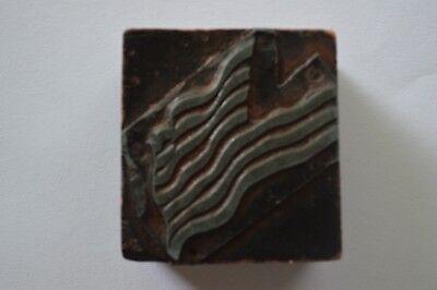 Letterpress Printing Block Vintage American Flag 1 34 X1 34 X 34