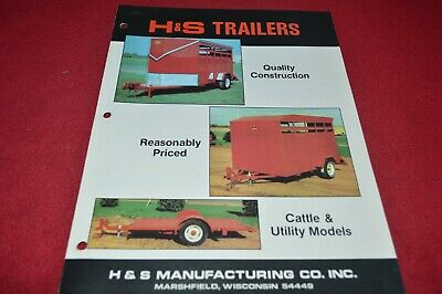 H & S Utility & Cattle Trailers Dealer's Brochure YABE18