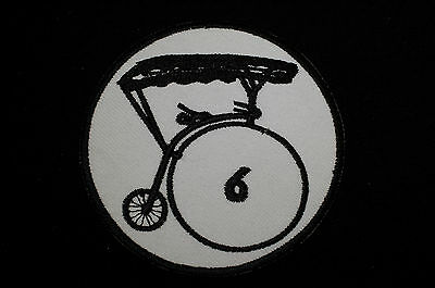 THE PRISONER - Number 6 - Iron/Sew On Patch -TV Series - Village - No653..