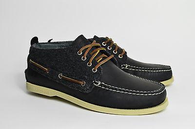 Sperry Boot (Sperry Top Sider Chukka NEU Echtleder Herren Bootsschuh Segel schwarz)