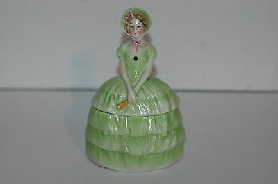 Half Doll ~ Powder Box ~ Made in Germany US Zone ~ Porcelain