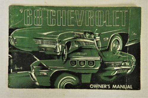 1968 CHEVROLET OWNERS MANUAL ORIGINAL