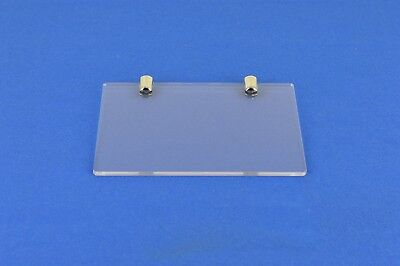 9 x Small Clear Acrylic Shelf 150mm x 210mm with fixings - PDS9005 Clear