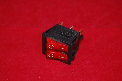 2pcs Double 2 Position Boat Rocker Switch Red Light Illuminated 24v Acdc