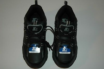 Starter mens running athletic shoes size 8 wide nwt memory foam black