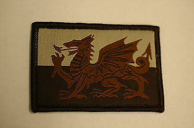 Subdued Welsh Dragon Velcro Patch  No180
