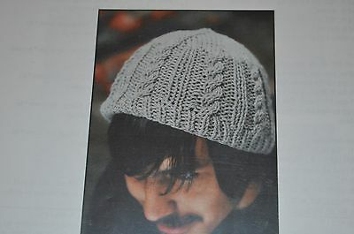 Figheadh Knitting Pattern 2202 Basic Aran Hat  Basic Hat Knitting Pattern