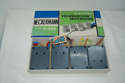 Intercom Station (4 Station  Transistor Intercom Neckermann Modell  Y -404 W418)