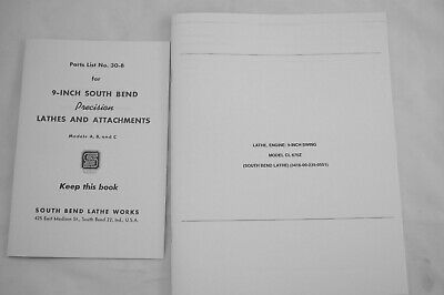 9-inch Model A B C South Bend Metal Lathe Works Parts 30-b Manual Parts Catalog