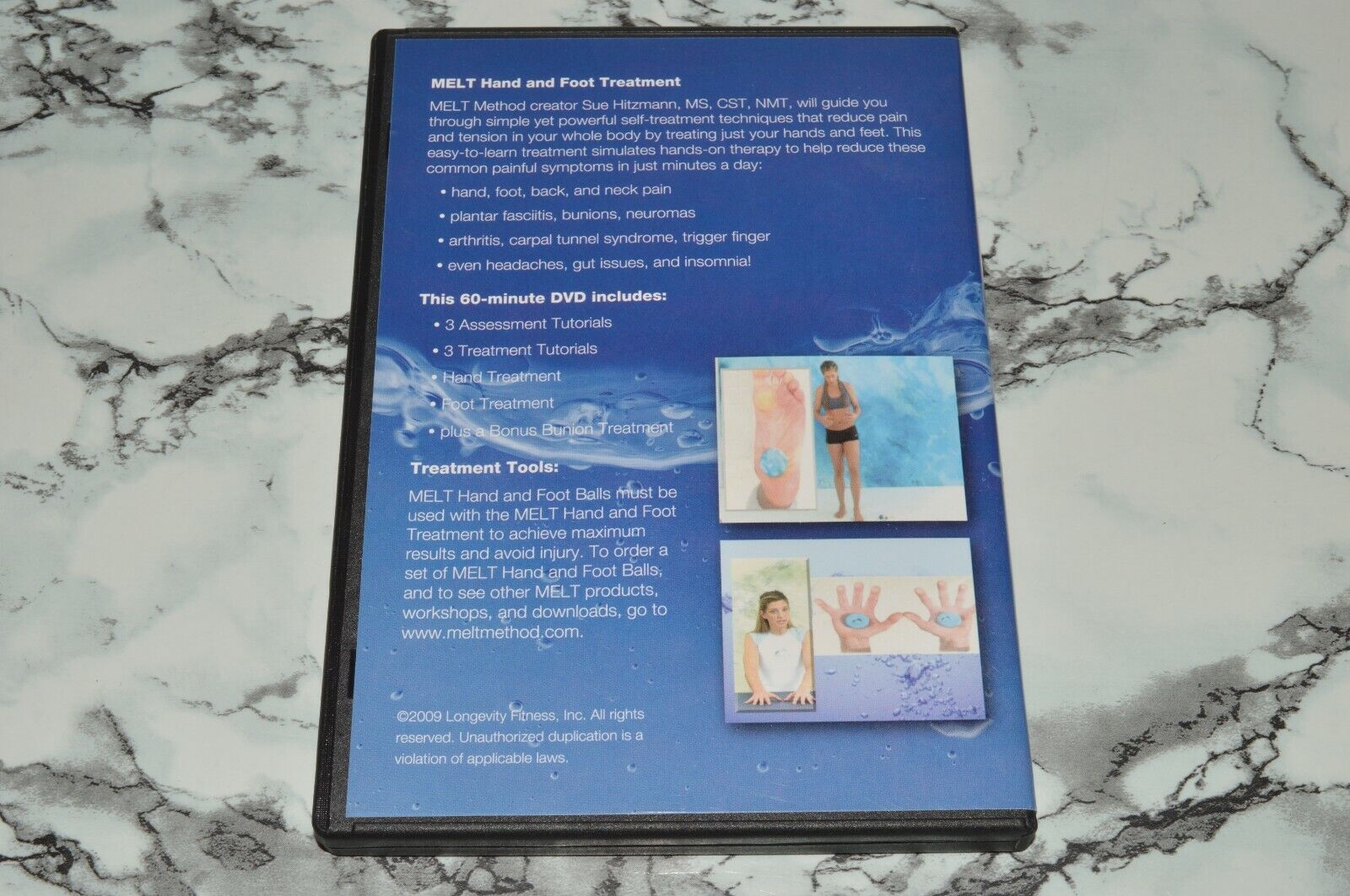 MELT Hand And Foot Treatment With Sue Hitzmann DVD, 2009 -- M.E.L.T. Method - $12.68