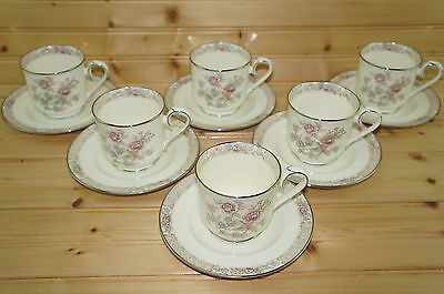 Noritake Imperial Garden 9720  6  Cups  3     6  Saucers  6