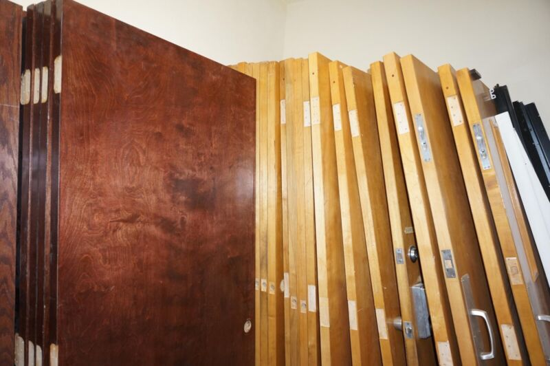 "Used comercial grade doors. Heavy duty solid wood. Size from 28"" 36"""