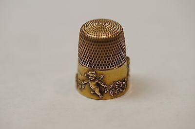 Simons Brothers 14k Yellow Gold Thimble, Cherubs & Garland - Size 9